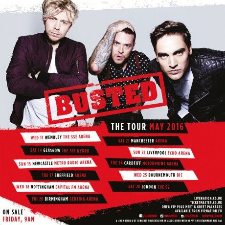 Busted tour 2016